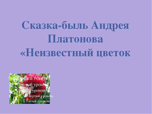Сказка-быль Андрея Платонова «Неизвестный цветок