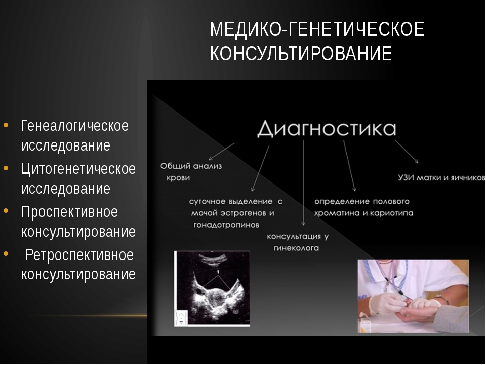 МЕДИКО-ГЕНЕТИЧЕСКОЕ КОНСУЛЬТИРОВАНИЕ Генеалогическое исследование Цитогенетич...