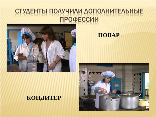 ПОВАР - КОНДИТЕР