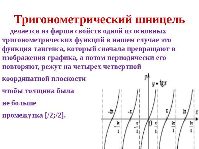 Тригонометрический шницель делается из фарша свойств одной из основных тригон...