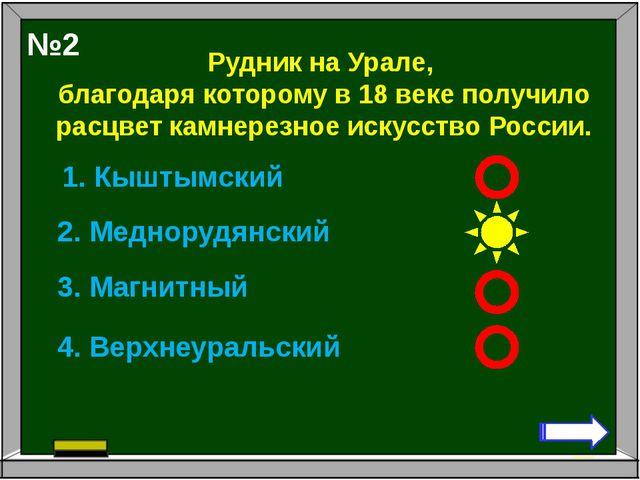 Рудник на Урале, благодаря которому в 18 веке получило расцвет камнерезное ис...