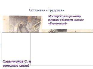 Остановка «Трудовая» Мастерская по ремонту техники в бывшем колхозе «Березовс