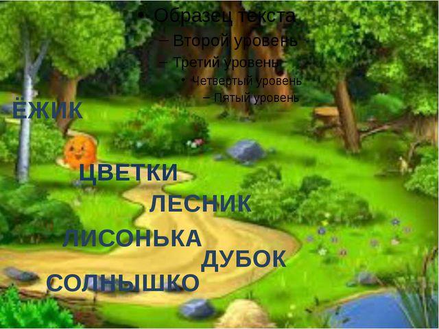 ЛЕСНИК ЦВЕТКИ ЛИСОНЬКА СОЛНЫШКО ЁЖИК ДУБОК
