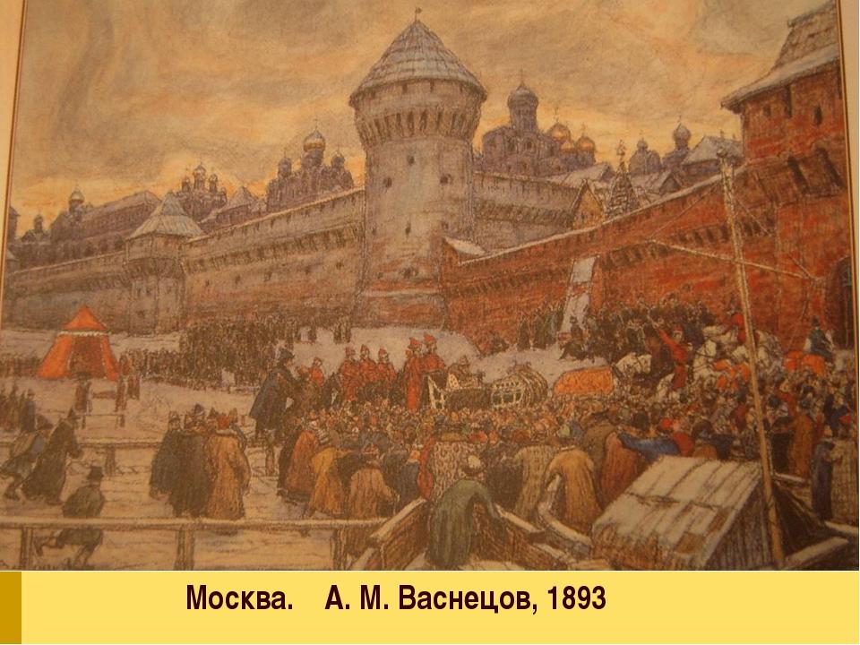 Москва. А.М. Васнецов, 1893