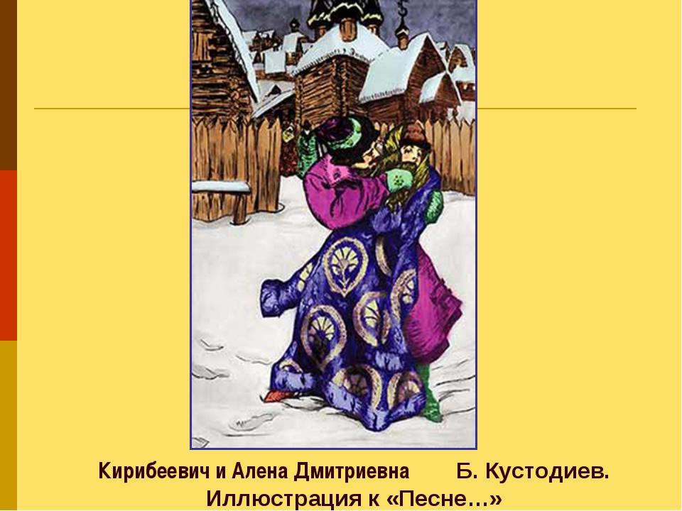 Кирибеевич и Алена Дмитриевна Б.Кустодиев. Иллюстрация к «Песне…»
