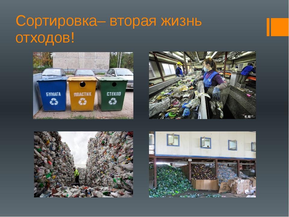Сортировка– вторая жизнь отходов!
