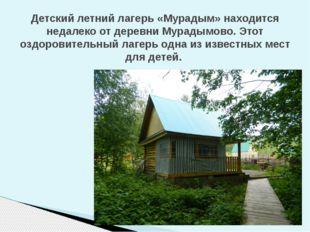 Детский летний лагерь «Мурадым» находится недалеко от деревни Мурадымово. Это