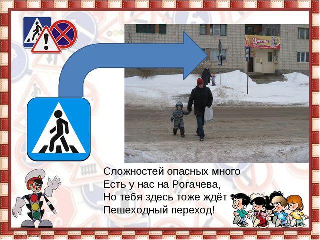 Сложностей опасных много Есть у нас на Рогачева, Но тебя здесь тоже ждёт П...
