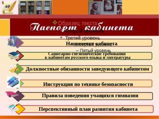 Перспективный план развития кабинета Санитарно-гигиенические требования к ка