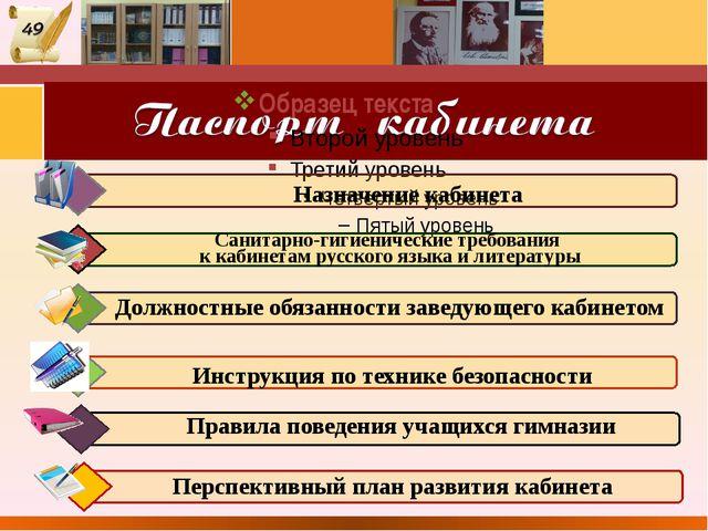 Перспективный план развития кабинета Санитарно-гигиенические требования к ка...