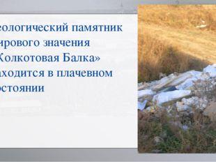 Геологический памятник мирового значения «Колкотовая Балка» находится в плаче
