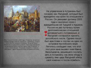 На управление в Астрахань был посажен хан Ямгурчей, который был враждебно нас