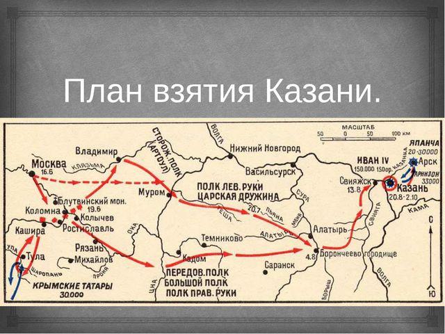 План взятия Казани. 