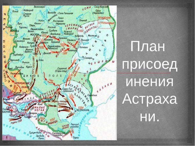 План присоединения Астрахани. 
