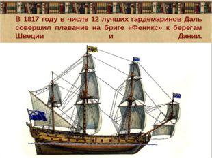 В 1817 году в числе 12 лучших гардемаринов Даль совершил плавание на бриге «Ф