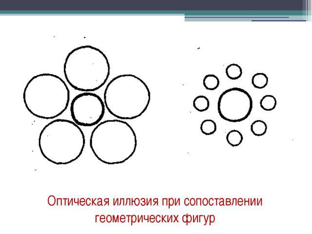 Оптическая иллюзия при сопоставлении геометрических фигур