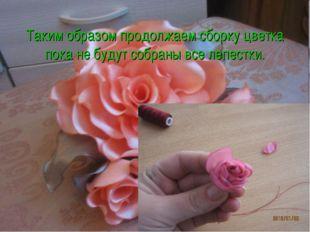 Таким образом продолжаем сборку цветка пока не будут собраны все лепестки.