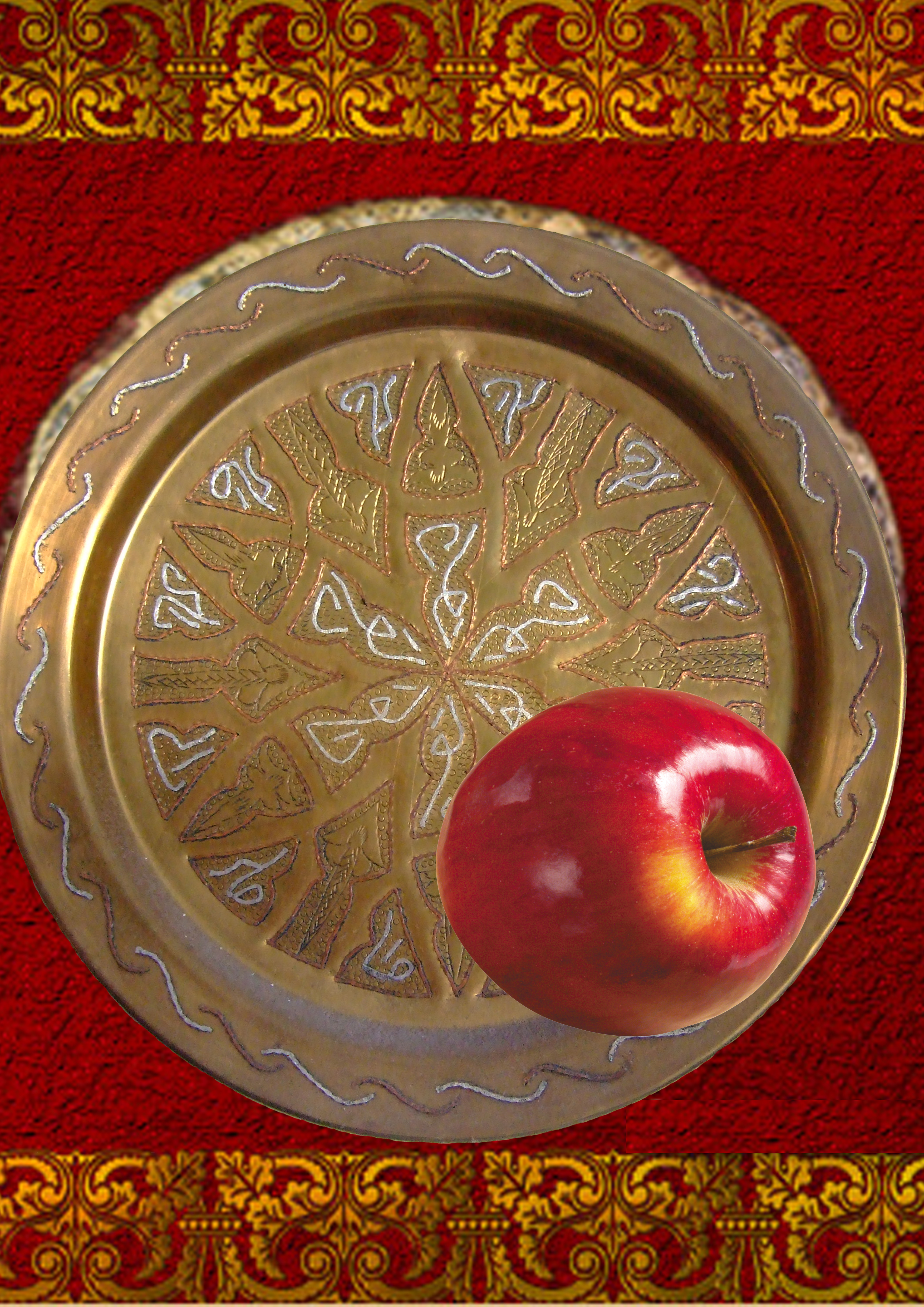 гиф яблоко на тарелочке декоративной задачи