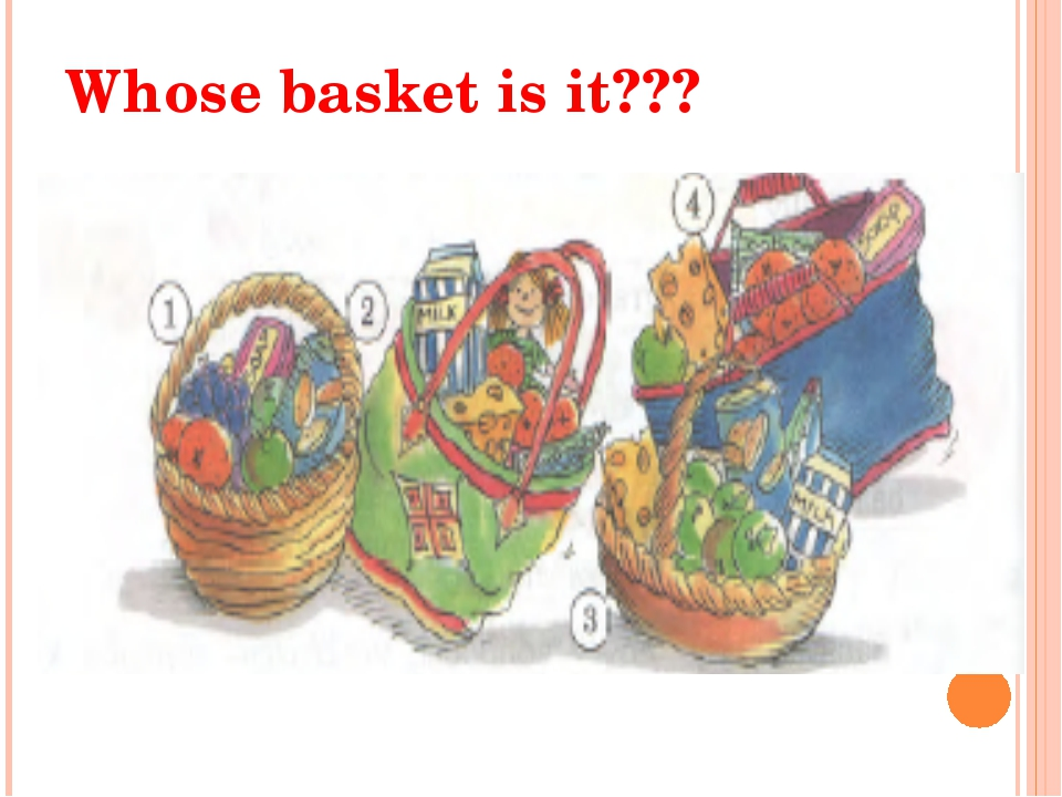 Whose basket is it???