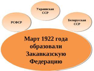 РСФСР Украинская ССР Белорусская ССР Грузинская ССР Армянская ССР Азербайджан