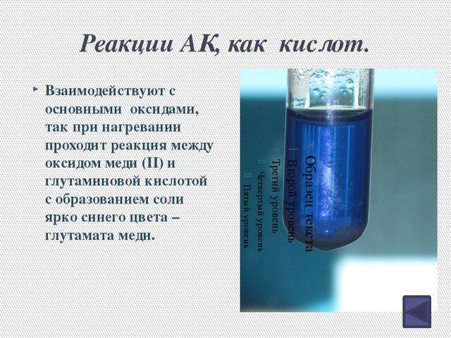Горение аминокислот. 4NH2CH2COOH + 13O2 8CO2 + 10H2O + 2N2