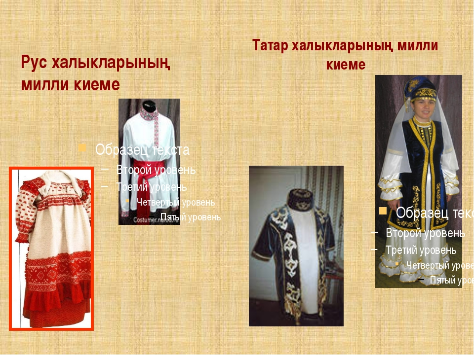 Рус халыкларының милли киеме Татар халыкларының милли киеме