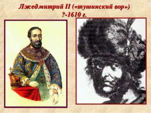 Лжедмитрий II («тушинский вор») ?-1610 г.