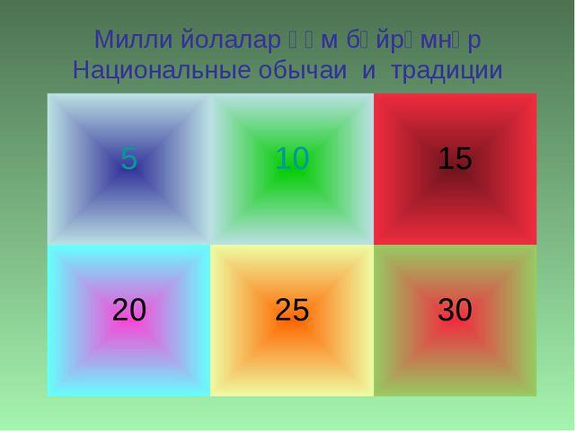 Милли йолалар һәм бәйрәмнәр Национальные обычаи и традиции 5 10 15 20 25 30