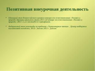 Позитивная внеурочная деятельность Школьный этап Всероссийского игрового конк