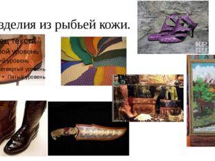 Изделия из рыбьей кожи.