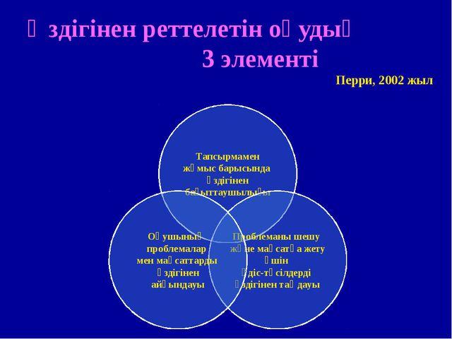 Өздігінен реттелетін оқудың 3 элементі Перри, 2002 жыл