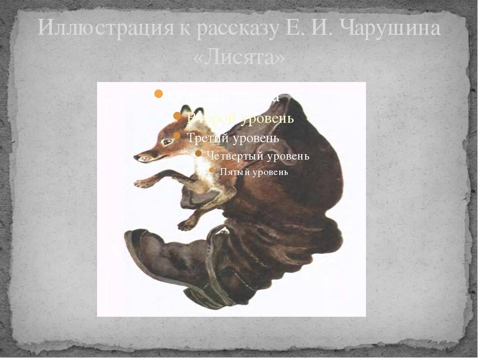 Иллюстрация к рассказу Е. И. Чарушина «Лисята»