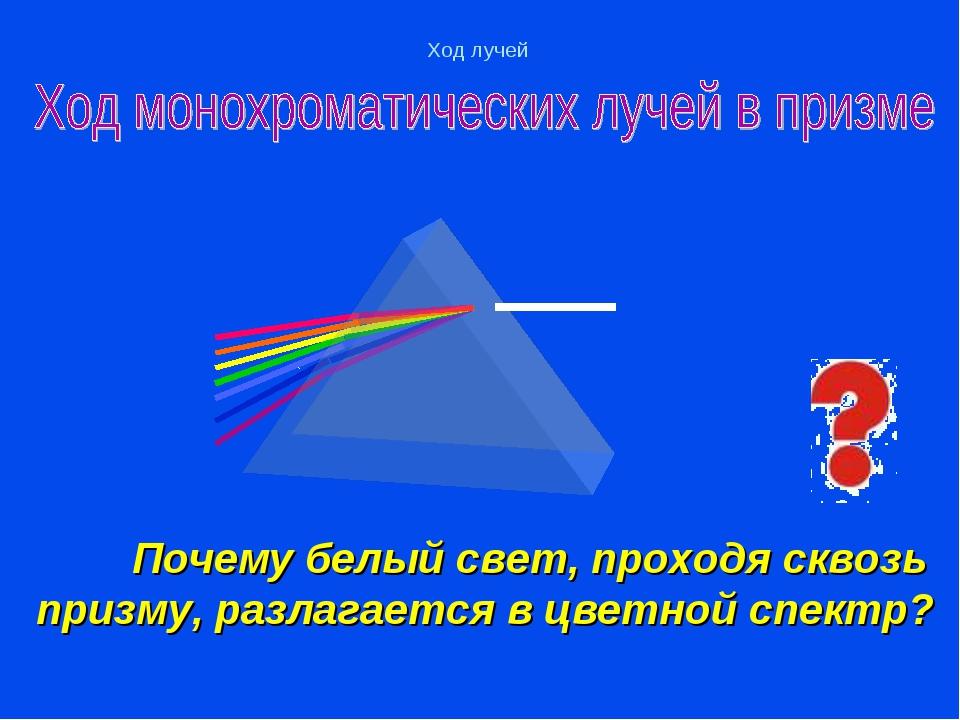 Почему белый свет, проходя сквозь призму, разлагается в цветной спектр?  Хо...