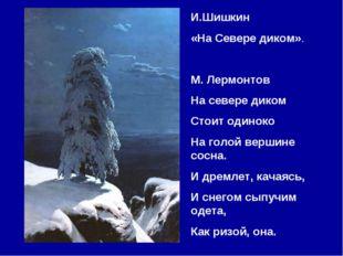 И.Шишкин «На Севере диком». М. Лермонтов На севере диком Стоит одиноко На гол