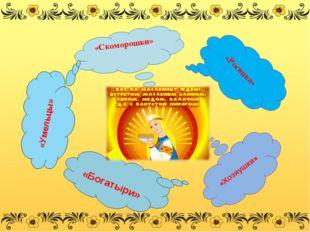 «Скоморошки» «Росинка» «Умельцы» «Богатыри» «Хозяушки» Р