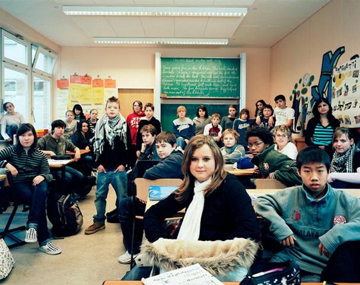 Немецкие школьники на уроке английского языка (г. Дюссельдорф)