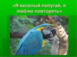 «Я веселый попугай, я люблю повторять»