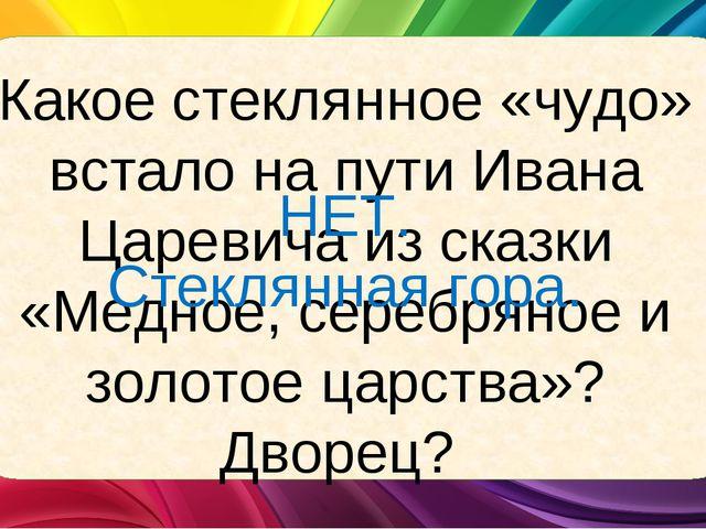 Какое стеклянное «чудо» встало на пути Ивана Царевича из сказки «Медное, сере...