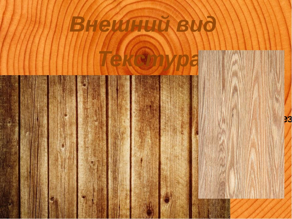 Внешний вид Текстура Текстурой — называется рисунок, видимый на разрезах дре...
