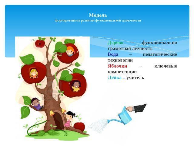 Модель формирования и развития функциональной грамотности Дерево – функционал...