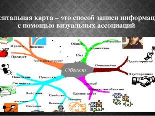 Ментальная карта – это способ записи информации с помощью визуальных ассоциаций