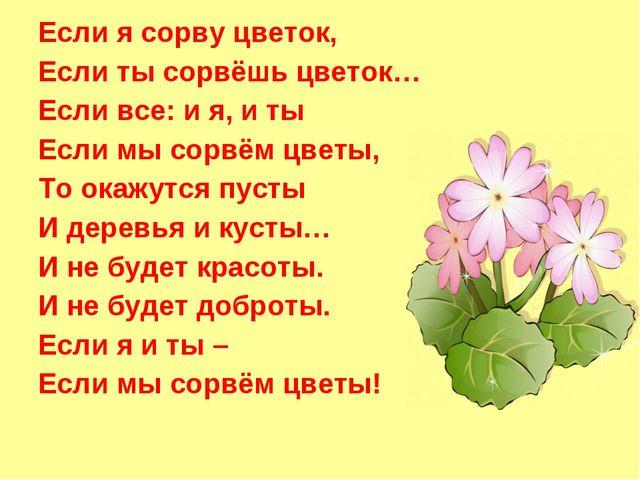 Если я сорву цветок, Если ты сорвёшь цветок… Если все: и я, и ты Если мы сорв...