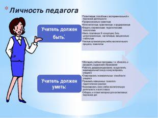 Личность педагога