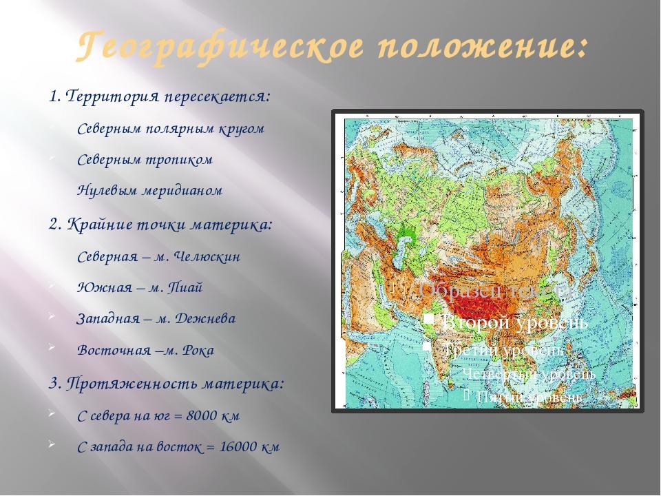 Географическое положение: 1. Территория пересекается: Северным полярным круго...