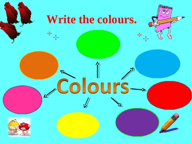 Write the colours.