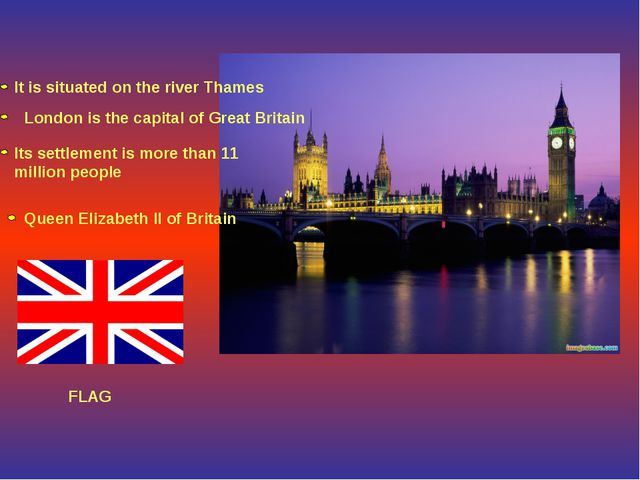 It is situated on the river Thames London is the capital of Great Britain Its...