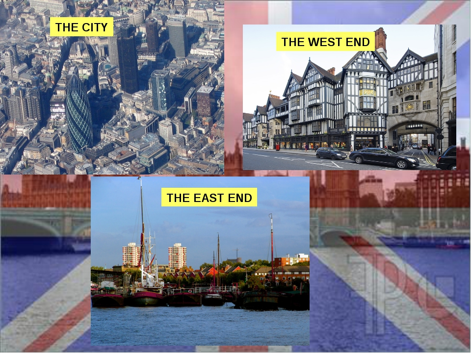 THE CITY THE WEST END THE EAST END