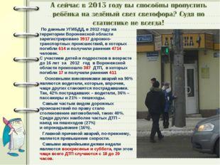 По данным УГИБДД, в 2012 году на территории Воронежской области зарегистриро
