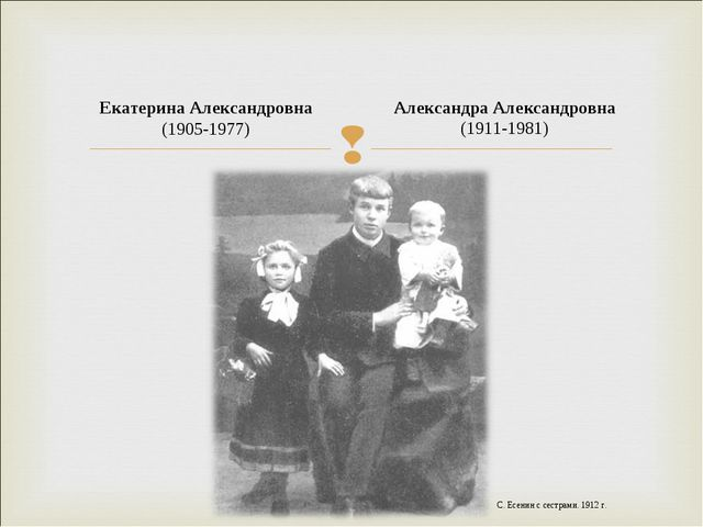 Александра Александровна (1911-1981) Екатерина Александровна (1905-1977) С....