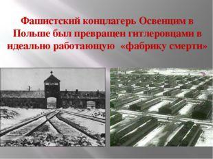 Фашистский концлагерь Освенцим в Польше был превращен гитлеровцами в идеально